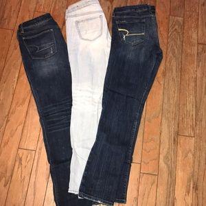 Bundle of 3 American Eagle Woman's Jeans